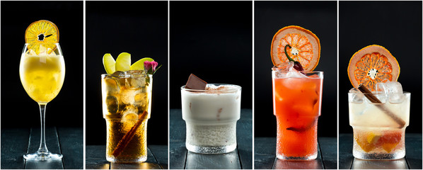 Collage of delicious cocktails © fotofabrika