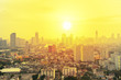 Leinwanddruck Bild - Cityscape in sunrise, Bangkok Thailand