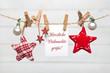 Leinwandbild Motiv Weihnachtskarte-Herzliche Weihnachtsgrüße