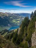 Ausblick vom Gibel auf den Lungernersee, Obwalden