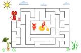 Funny maze game for Preschool Children. Illustration of logical education for children of preschool age. - 224536231