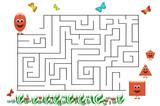 Funny maze game for Preschool Children. Illustration of logical education for children of preschool age. - 224536266