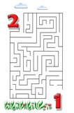 Funny maze game for Preschool Children. Illustration of logical education for children of preschool age. - 224536296