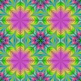 Beautiful seamless flower pattern in fractal design. Artwork for creative design, art and entertainment. - 224536656