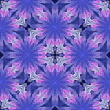 Multicolored floral pattern in stained-glass window style. You can use it for invitations, notebook covers, phone cases, postcards, cards, wallpapers. Artwork for creative design. - 224539612