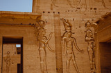 ancient sculpture in temple philae, Egypt