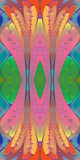 Multicolored abstract pattern in stained glass window style. You can use it for invitations, notebook covers, phone cases, postcards, cards, wallpapers and so on. Artwork for creative design. - 224545660