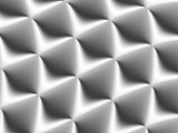 3D decorated white and light grey rhombuses in a repeating pattern. Futuristic geometric monochromatic design for backgrounds, templates, backdrops, surface, textile and fabric designs - 224546289