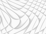 White and light grey futuristic pattern. Monochromatic design for backgrounds, templates, backdrops, surface, textile and fabric designs. 3d render illustration - 224546636
