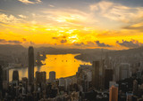 Sunrise view from Victoria Peak, Hong Kong