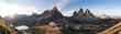 Quadro Sonnenaufgang an der Dreizinnenhütte