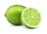 lime fruits isolated on white background