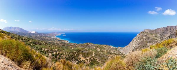 Kreta Griechenland Landschaft Panorama Meer Mittelmeer Übersicht © Markus Mainka