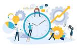 Vector illustration concept of time management. Creative flat design for web banner, marketing material, business presentation, online advertising. - 224613024
