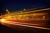 Mannheim Straßenbahn Langzeitbelichtung