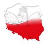 100 lat niepodległości Polski, flaga-mapa