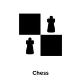 Chess icon vector isolated on white background, logo concept of Chess sign on transparent background, black filled symbol