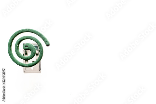 Mosquito Repellent For Outdoor Garden Summer House Picnic Green Spiral On White