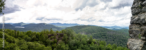 Views of the Adirondack from the top of a mountain - 224643056