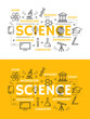 Science and education outline symbols