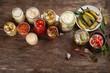 Leinwanddruck Bild - Different preserved vegetables