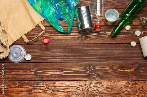 Leinwandbild Motiv waste materials paper, plastic, polyethylene