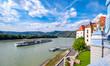 Leinwanddruck Bild - Dürnstein an der Donau