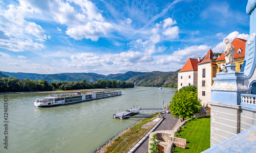 Leinwanddruck Bild Dürnstein an der Donau