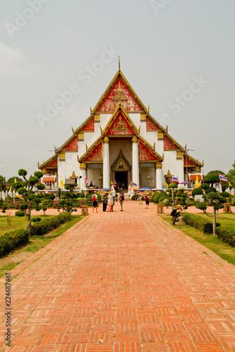 Świątynia w dawnej stolicy Tajlandii, Ajutthaja,Tajlandia