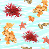sea world seamless pattern