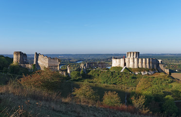 Chateau Guaillard castle in Normandy