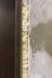 Building foam in the doorway as a background - 224704616
