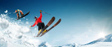 Skiing. Snowboarding. Extreme winter sports - 224705687