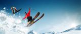 Fototapeta Na sufit - Skiing. Snowboarding. Extreme winter sports © Артур Дидык