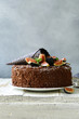 chocolate cake with fresh figs for a treat
