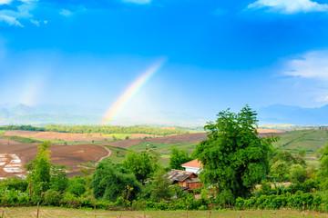 Rainbow in the mountain valley of Laos. © Artur Sarkisyan