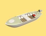 Boot mit Außenbordmotor  - 224707630