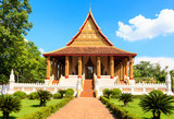Buddhist temple of Ho Phra Keo. Laos. Vientiane.