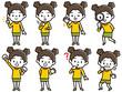 女の子 表情 セット