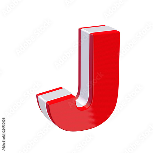Red Glossy Alphabet Letter J On White Background Computer Icons