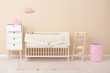 Leinwanddruck Bild - Stylish baby room interior with comfortable crib