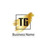 Initial Letter TG Logo Template Design