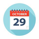 October 29 - Calendar Icon - 224760246