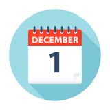 December 1 - Calendar Icon - 224761070