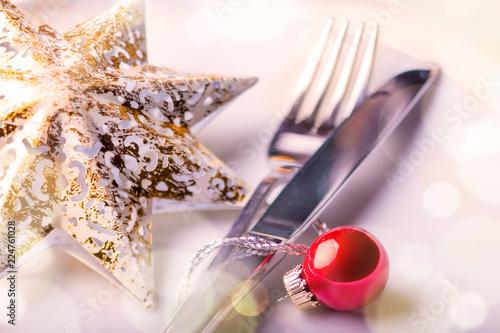 Leinwanddruck Bild Christmas table setting