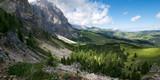 Luci e ombre sulla Val Gardena vista dai fianchi del Sassolungo