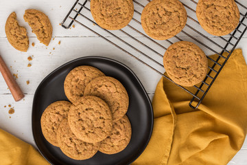 Pumpkin Snickerdoodle Cookies Fresh from the Oven