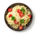plate of spaghetti pasta - 224790095