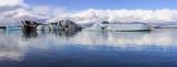 Jökulsárlón glacier lagoon panorama - 224796867