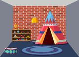 interior of childrens playroom